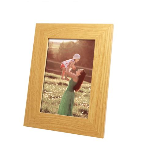 light wood picture frames harriet light wood engravable photo frame with print