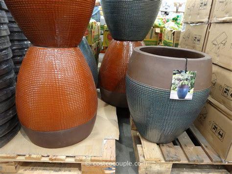Planters and outdoor ceramic 2017 rustica inch planter costco savwi com