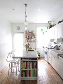 narrow kitchen design with island eat in kitchen islands