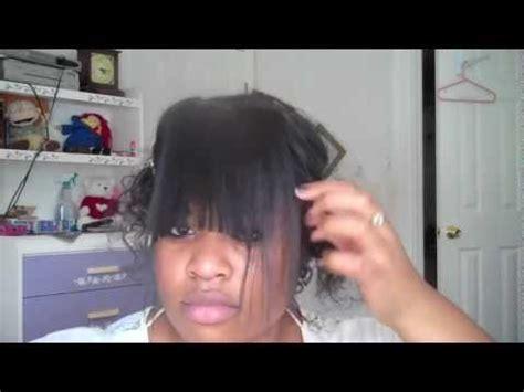diy hairstyles youtube diy clip in bangs for black hair youtube