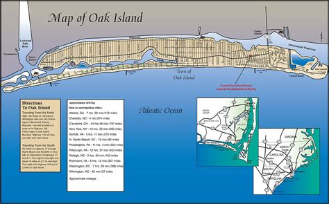 map of oak island carolina directions to oak island nc map of oak island nc