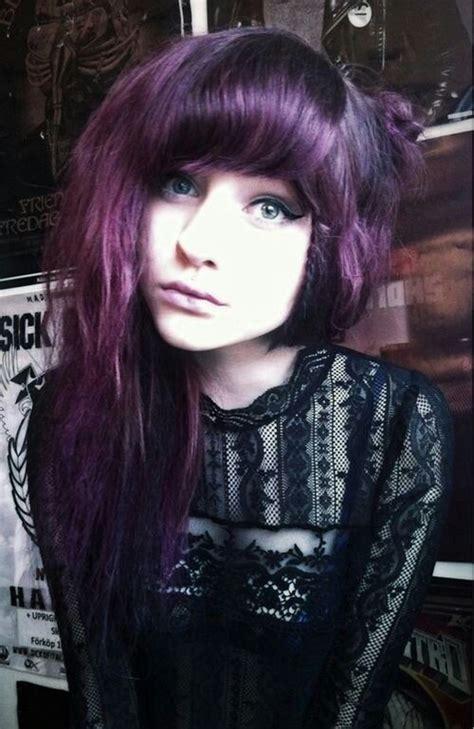 dark purple hair beautiful hair pinterest coloured