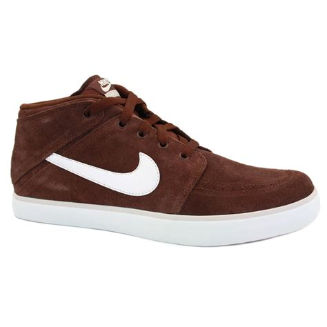 nike brown sneakers nike suketo mid 525310 211 mens laced suede mid trainers