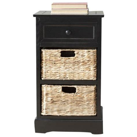 Wicker End Tables With Drawers by Accent Table With Wicker Drawers Furniture