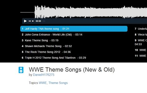 theme songs wwe list 5 free websites to download wwe theme songs