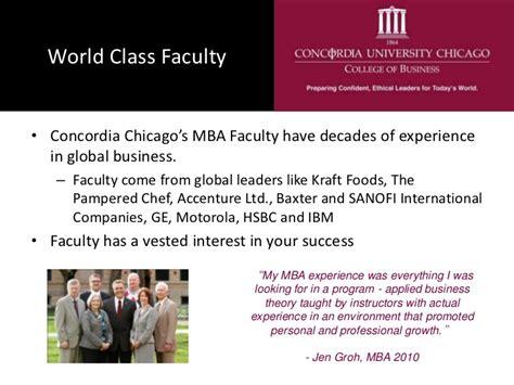 Ibm Chicago Mba Program a concordia chicago mba for international students