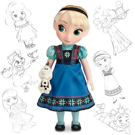 Animators Doll Original Disney Store disney animators collection elsa doll frozen 16 disney store