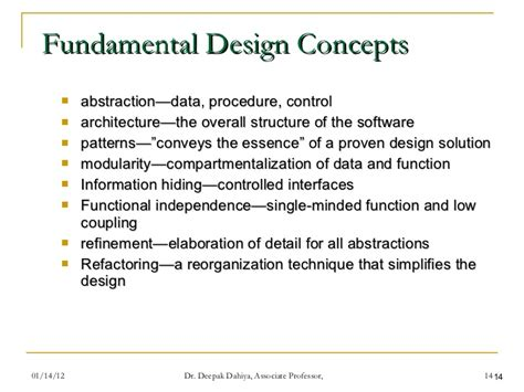 design concept refinement in software engineering design engineering