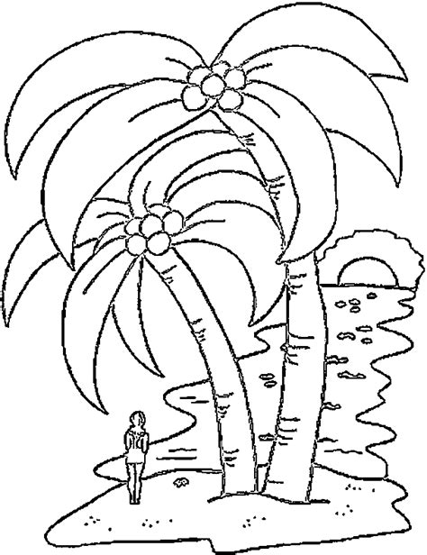 Palm Tree Coloring Pages Coloringpagesabc Com Palm Tree Coloring Pages