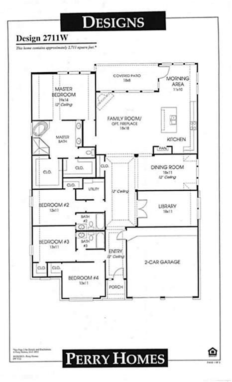 perry homes floor plans new perry homes floor plans