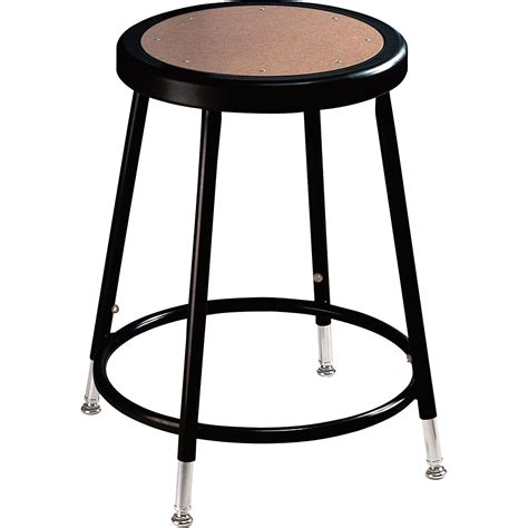 Seating Stool by National Seating Adjustable Steel Stool 19 27in H