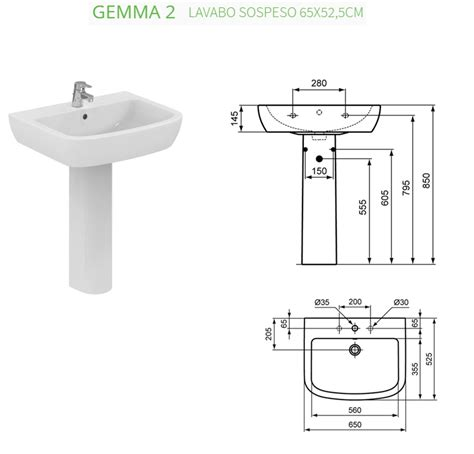 bidet gemma 2 awesome misure standard lavabo bagno gallery new home