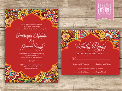 indian wedding program cards design template 35 traditional wedding invitations psd free premium