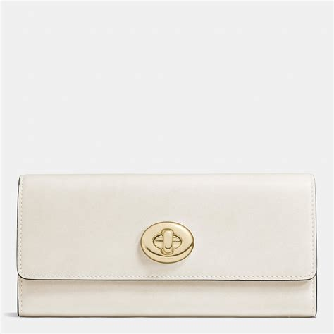 Coach Slim Envelope Wallet lyst coach turnlock slim envelope wallet in smooth