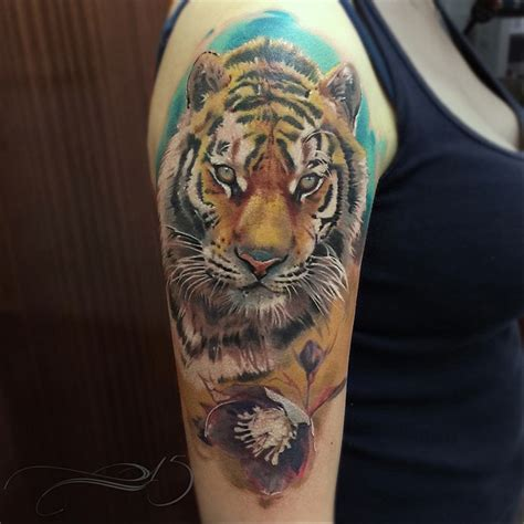 realistic tiger tattoo realistic tiger sleeve best ideas designs
