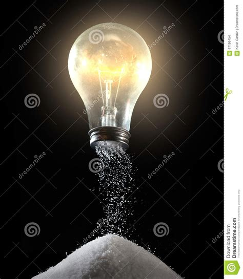 salt l light bulb light bulb and salt shaker stock photo image of food
