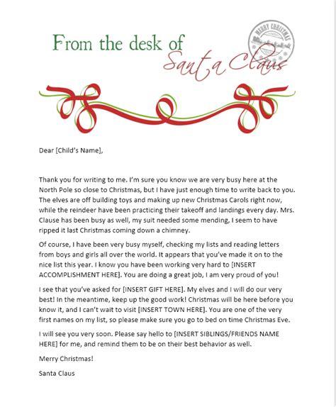 printable santa letterhead templates christmas