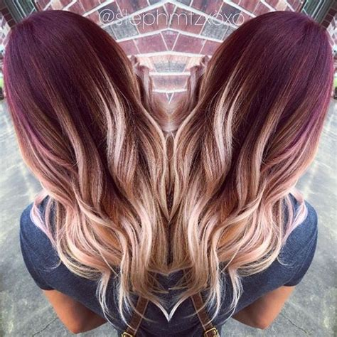 plumb colour hairstyles 20 hottest red ombre hair ideas with cool shades
