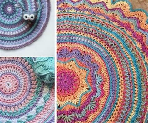 free crochet patterns for rugs diy crochet mandala rug artistic patterns the whoot