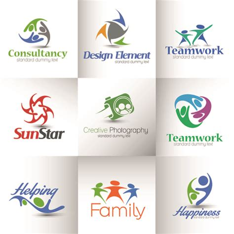 design free modern logo modern business logos design art vector 02 vector logo
