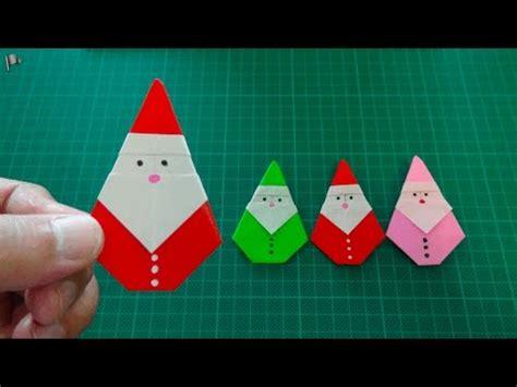 Easy Origami Santa - origami santa claus
