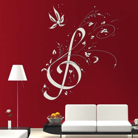 musical note wall stickers floral note wall decals wall stickers