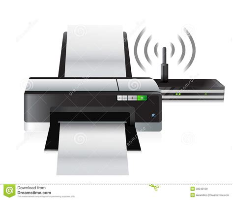 Router Printer printer and router connection royalty free stock images image 30043129