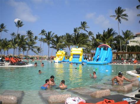Blow up slide on Fridays   Picture of Now Larimar Punta Cana, Bavaro   TripAdvisor