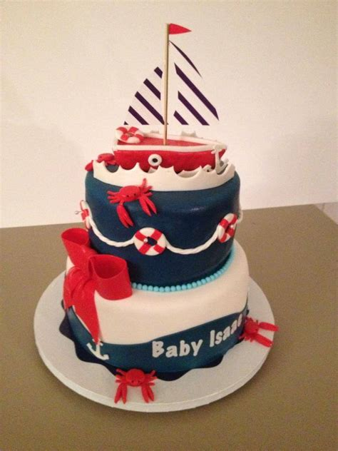 Nautical Baby Shower Cakes by Pin Boy Nautical Themed Baby Shower Cake Sweet Indulgences