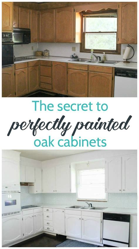 Painting Oak Cabinets White An Amazing Transformation How To Paint Oak Kitchen Cabinets White