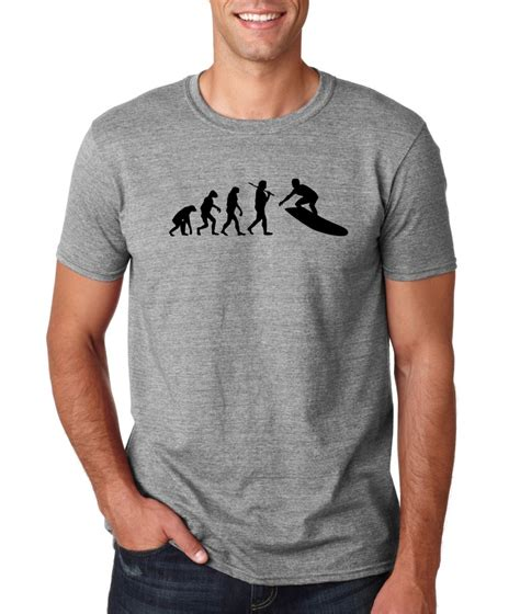 T Shirt Surfing 12 mens evolution of surf surfing board t shirt