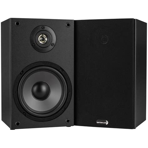 Dayton Audio B652 Bookshelf Speakers restocked dayton audio b652 6 1 2 quot 2 way bookshelf speaker pair