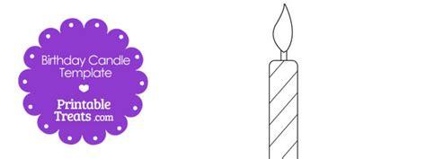 birthday candle card template printable birthday candle shape template printable