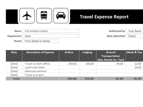 Expense Report Template Excel 2003 Travel Expense Report Template