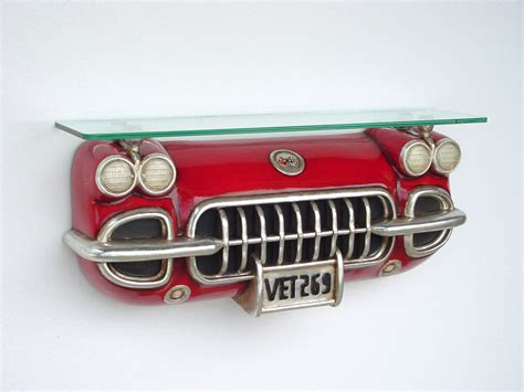corvette car wall shelf including glass