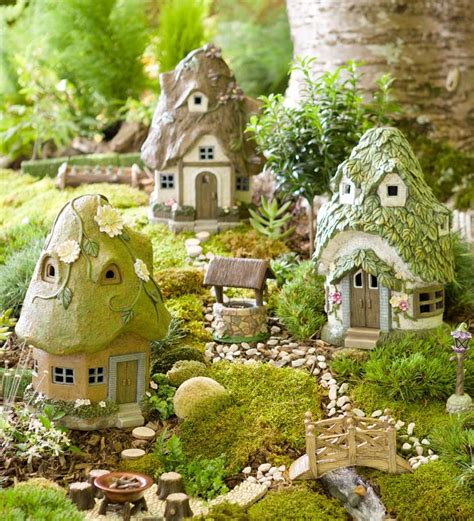 miniature garden houses round solar fairy house mini fairy gardens plow hearth