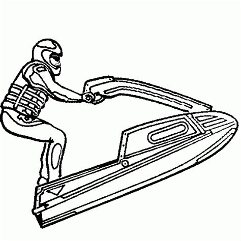 jet ski coloring pages to print jet ski seadoo transportation printable coloring pages