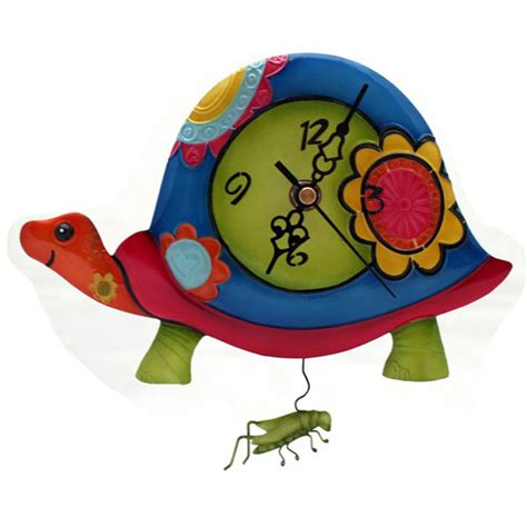 colorful wall clocks colourful tortoise wall clock