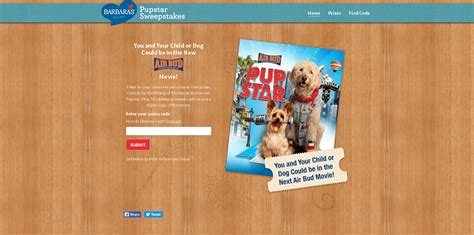 Barbara S Giveaway - barbarasgiveaway com win the barbara s giveaway to be in the next air bud movie