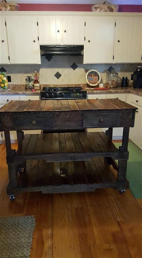 pallets made kitchen island 101 pallet ideas wood work with pallet islands