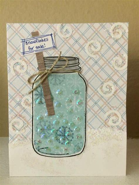 Handmade Greeting Cards For Sale - jar handmade greeting cards snowflakes for sale