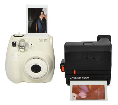 polaroid fuji instant print faceoff polaroid onestep flash vs fujifilm