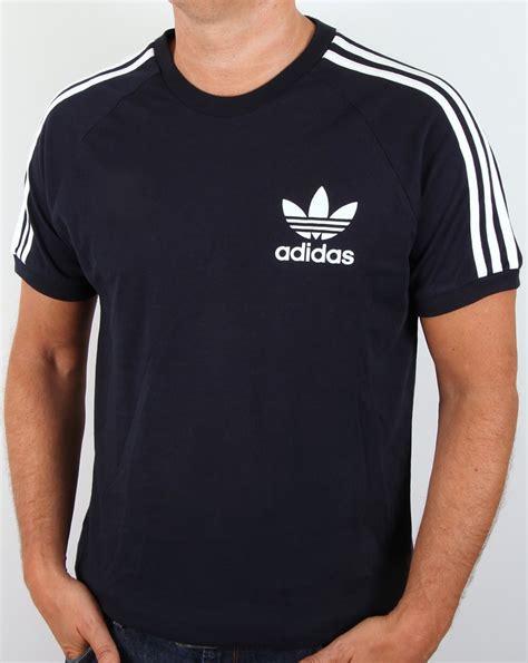Tshirt Adidas Reutro Navy adidas originals retro 3 stripes t shirt navy california