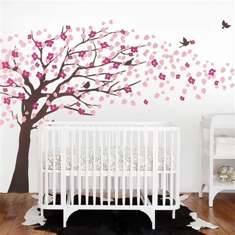 Tree Nursery Wall Decals Cherry Blossom Tree Decal Style