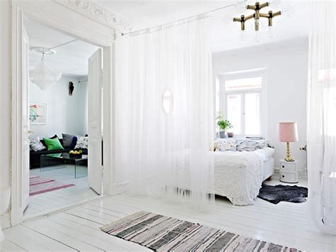 curtain divider for bedroom room dividers partitions