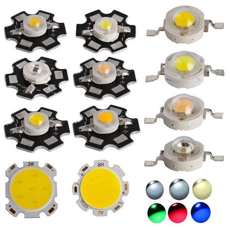 10x 50x smd cob led chip with pcb high power white light 1w 3w 5w 7w ebay