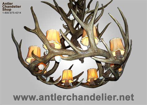 Real Antler Chandelier For Sale Real Antler Mule Deer Royal Crown Mdglcr Antler Chandelier