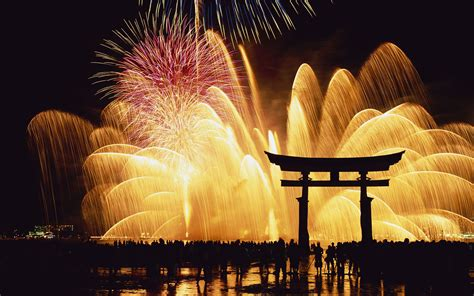 travel japan during new year happy new year beautiful fireworks 新年快樂煙火秀