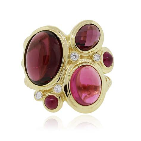 david yurman 18k yellow gold and multi gemstone ring
