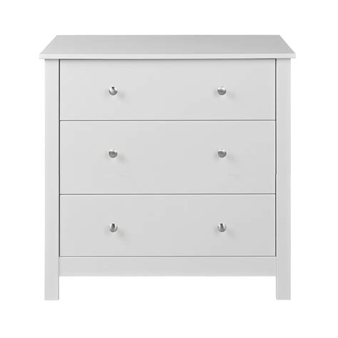 3 drawer dresser white florence 3 drawer chest in white
